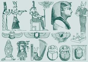 Art d'Egypte verte vecteur