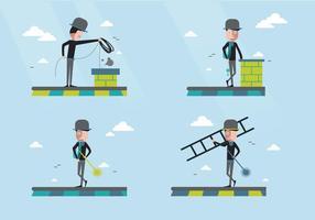 Illustration de vecteur de caractère de balayage de cheminée