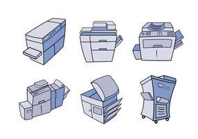Photocopieur dessins animés illustration vectorielle