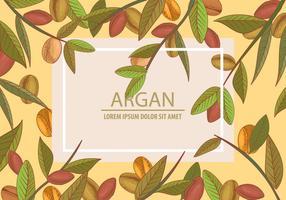 Argan sans soudure et concept de modèle d'arrière-plan vecteur