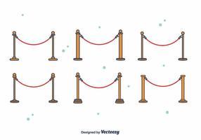 Vecteur de corde de velours gratuit