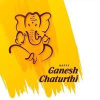 Lord Ganesh Chaturthi festival indien sur coup de pinceau