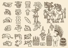 Symboles préhispaniques vecteur