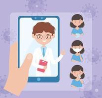 assistance médicale en ligne pour la prévention des maladies infectieuses virales vecteur