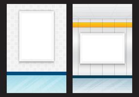 Panneaux d'affichage intérieurs vecteur