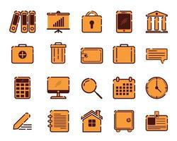 collection d'icônes d'entreprise unique