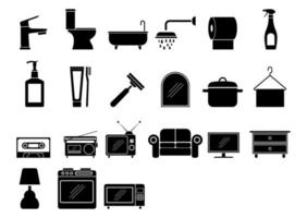 jeu d'icônes maison vecteur