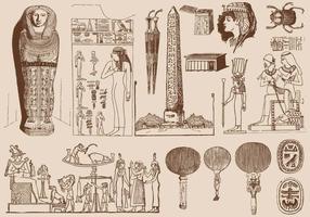 Art d'Egypte marron vecteur