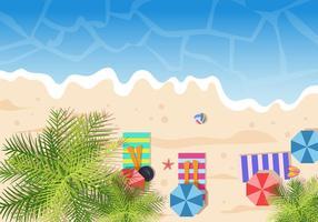 Arbres Vue de dessus pour paysage Beach Vector