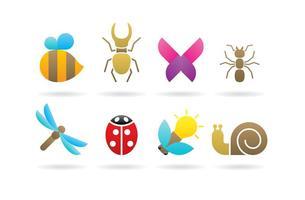 Logos d'insectes vecteur