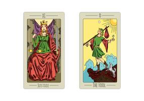 Cartes de Tarot Gratuites vecteur
