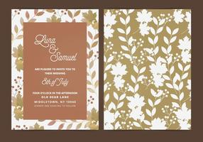 Vector Fall Leaf Wedding Invitation