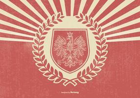 Illustration d'aigle polonais style rétro vecteur
