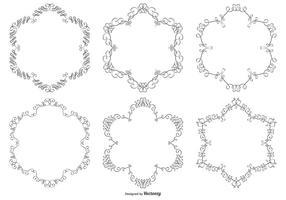 Collection de cadre vectoriel d'ornement