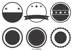 Formes de badges rétro en blanc vecteur