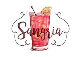 Fond d'aquarelle Sangria gratuit vecteur