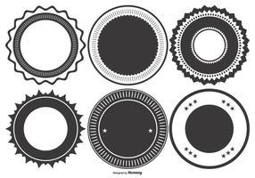 Collection de badge en forme de style vide vecteur