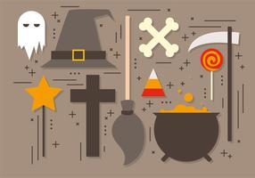Collection gratuite de vecteur Halloween Elements
