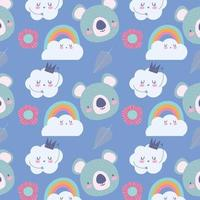 petits visages de koala avec fond de nuages