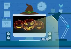 Conception de vecteur d'économiseur d'écran Halloween gratuit