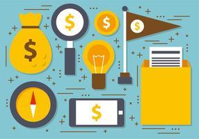 Plat Digital Marketing Vector Illustration