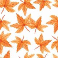 modèle sans couture de feuilles d'érable aquarelle