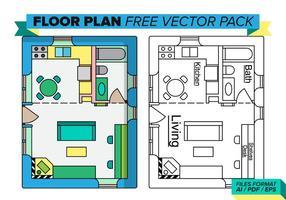 Ensemble vectoriel gratuit Floorplan