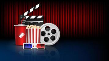 concept de fond de cinéma vecteur