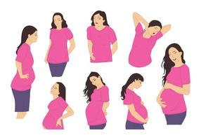 Vecteur enceinte de maman