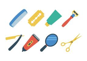 Ensemble d'icônes gratuit Barber Shop vecteur