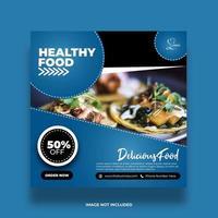 bannière de nourriture minimale créative pour publication de restaurant sur les médias sociaux
