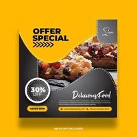 offre minimale créative bannière de nourriture spéciale pour les médias sociaux