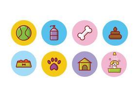 Ensemble d'icônes de chien gratuit vecteur