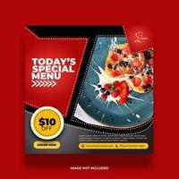 bannière de nourriture minimale colorée pour la promotion des médias sociaux