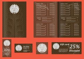 Modèles de menu marron vecteur