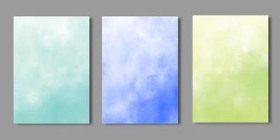 modèles de couverture de livre aquarelle douce vecteur