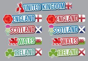 Titres britanniques vecteur