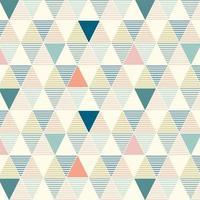 modèle sans couture de triangles de lignes colorées géométriques vecteur