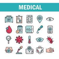 jeu d'icônes de soins de santé