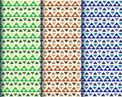 motifs ethniques triangle coloré vecteur
