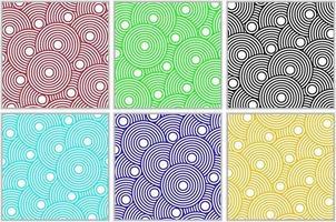 motifs de cercles concentriques colorés