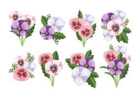 Vecteur libre de fleurs de pansy