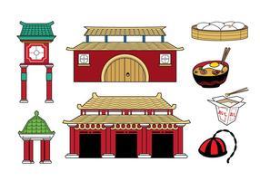 Collection gratuite d'icônes de pays chinois vecteur