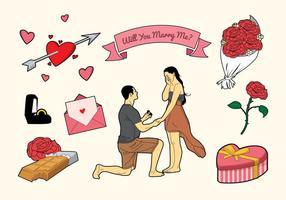 Libre romantique me marie icônes