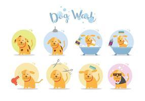 Vecteur de lavage de chien gratuit