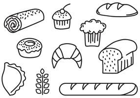 Vecteurs de pain de boulangerie gratuits vecteur