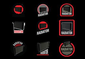 Étiquettes vectorielles de radiateurs vecteur