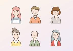 Illustration d'icônes de personnage