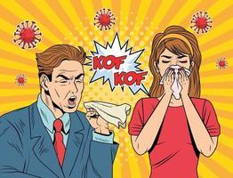 couple malade avec covid 19 particules