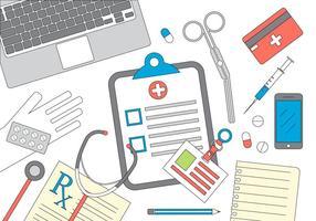 Illustration vectorielle médicale vecteur
